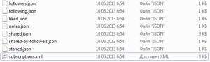 Распакованные файлы