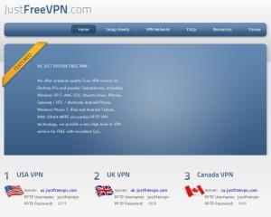Бесплатный VPN от justfreevpn