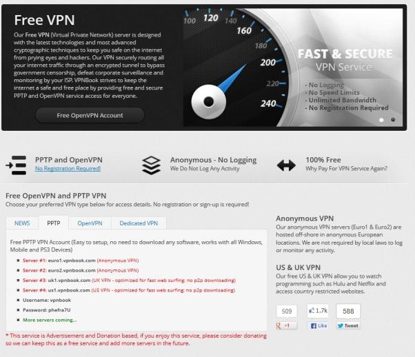 Бесплатный VPN от VPNBook